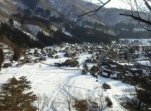 冬の白川郷 眺め