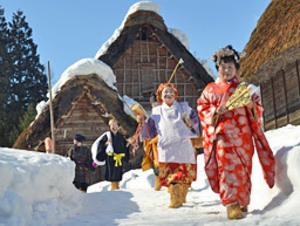 3日に行われた白川村で蚕飼い祭り