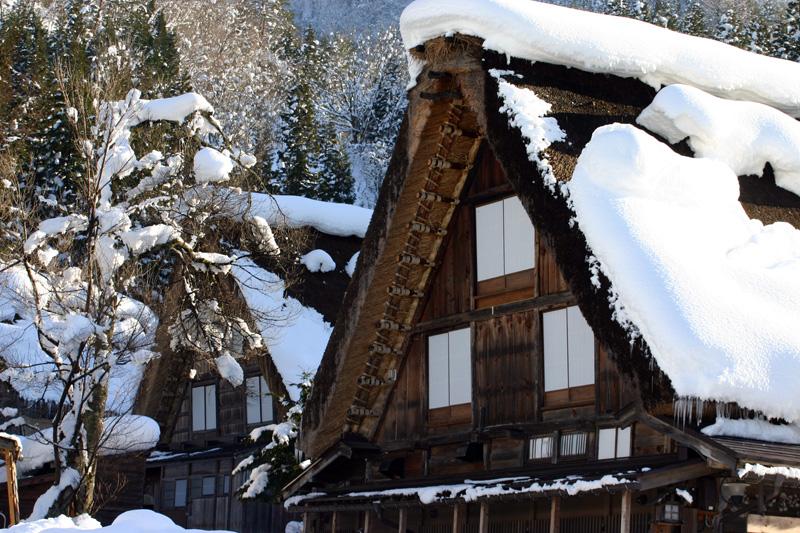 世界文化遺産の白川郷合掌造り集落は真っ白に雪化粧 ⑥
