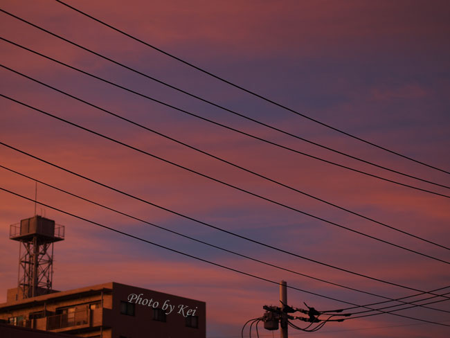 夕焼けの空♪