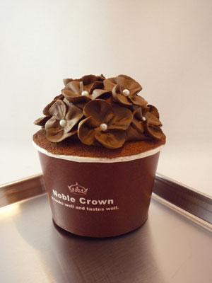 チョコあじさいカップケーキ