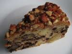 apple walnut cake with almonds and chocolate chips