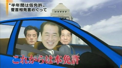 菅総理の「仮免」のイメージ画
