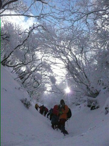 ②h23,1,10 韓国岳北峰 070