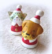 クリスマスネコ・犬