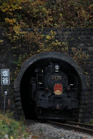 SLニセコ号 11月3日 塩谷トンネル