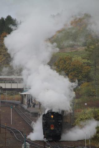 SLニセコ号 11月4日 小沢駅発車