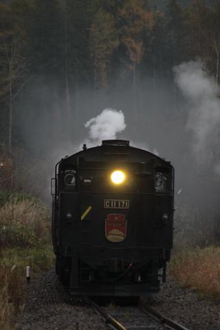 SLニセコ号 11月4日 比羅夫駅