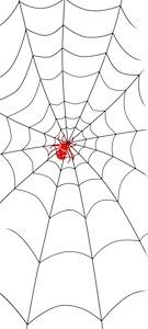 蜘蛛の巣半襟