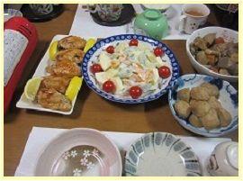 104夕飯2 ブログ