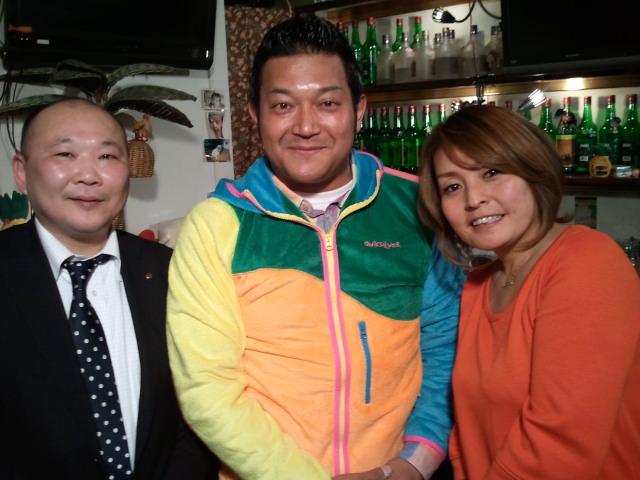 直江喜一さん、山口智充さん、佐野恵子さん