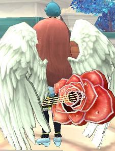 オレンジ薔薇ギター
