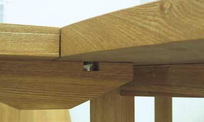 天板裏の溝