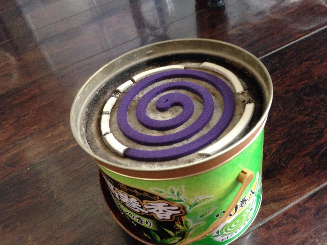 蚊取り線香紫