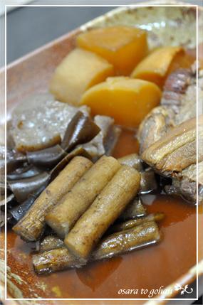 角煮と野菜