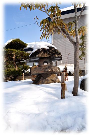 田島の庭の雪