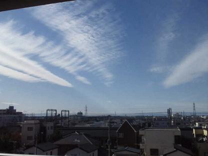 富士山筋雲