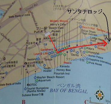 サンタナロッジ地図