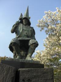 清正像と桜