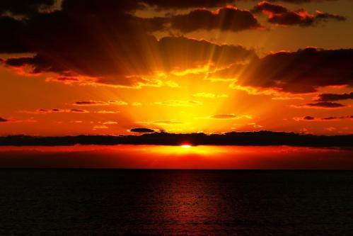 6月の夕陽 1