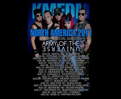 KMFDM NORTH AMERICAN TOUR 2011