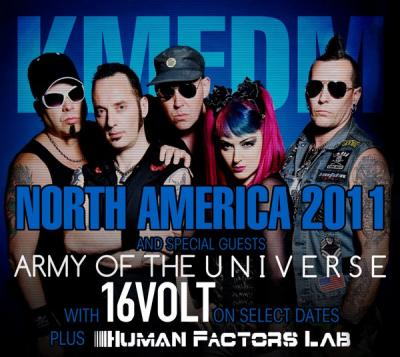 KMFDM NORTH AMERICA 2011 with 16VOLT