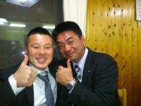 小川会長(左)と和田会長(右)