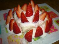 ピヨ1歳誕生ケーキ