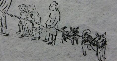 犬もひっぱる