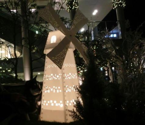 テラス イルミ 風車