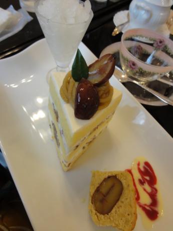 和栗のショートケーキ!