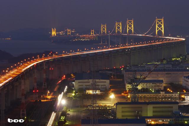 週末の瀬戸大橋