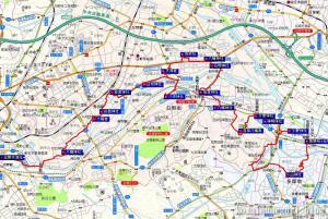 聖蹟桜ヶ丘~北野  22.1km