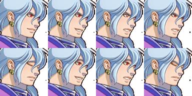 三つ編み騎士(顔グラ)1