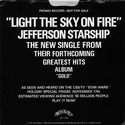 Jefferson Starship1978 Light the Sky On Fire #66