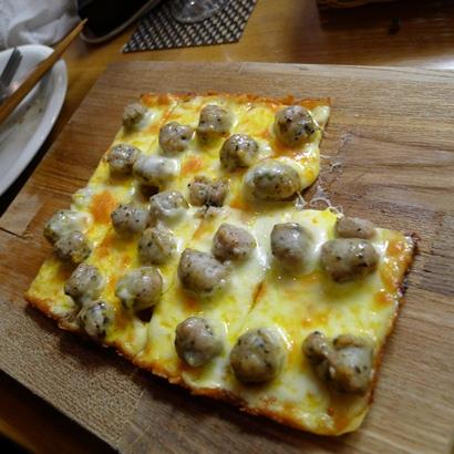 5サルシッチャのピザ