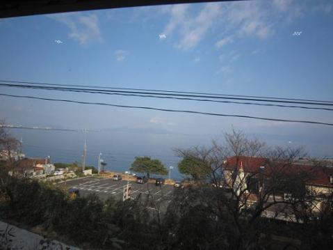 車中からの桜島