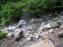 美脚への道♪ 温泉三昧♪ のんびり努力♪-まんじゅうふかしの川