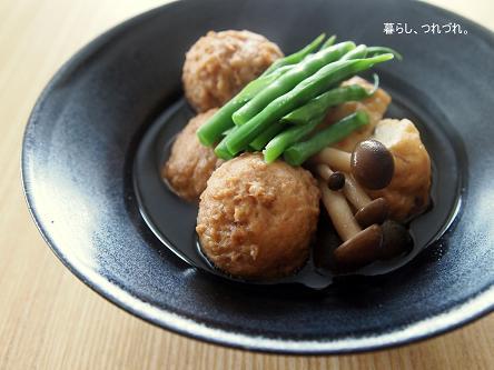 鶏肉団子と飛竜頭の煮物.