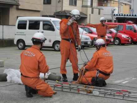 厚木消防署の日常訓練