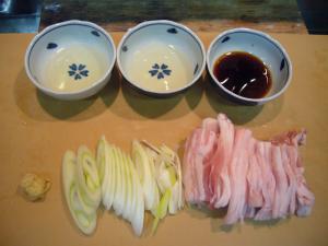 生姜焼き材料