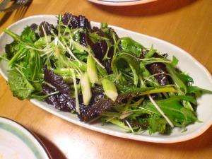 からし菜・水菜・セロリのサラダ