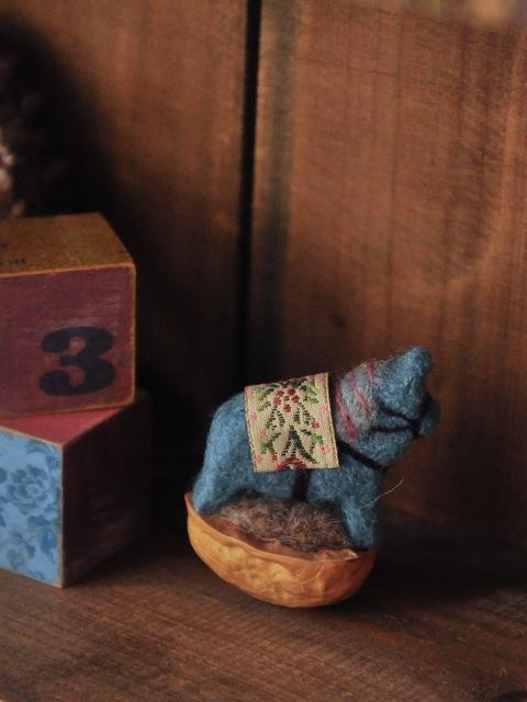 羊毛ダーラナーホース 青