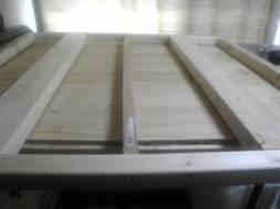 自作した木製マット用の木枠