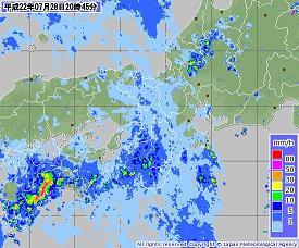 近畿レーダー 20100728 2045-00