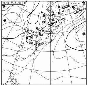 天気図 10072821