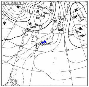 天気図 10073103