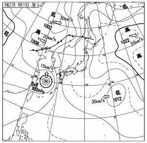 天気図 10081003