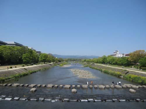 鴨川(丸太町橋の上から)