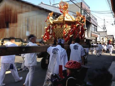 今宮神社の御神輿に出会う